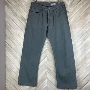 Huston button fly straight jeans